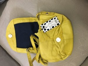 Pieces Crossbody bag lime yellow