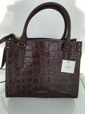 Fossil Carry Bag dark brown leather