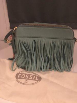 Tasche Fossil Leder Fransen Boho Gold