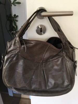Tasche Francesco Biasia Leder grau/braun