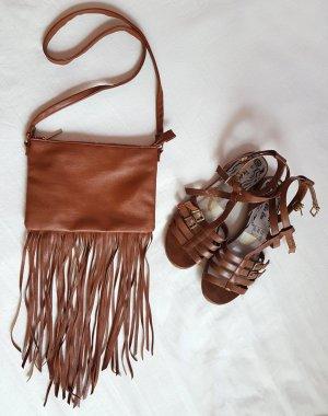 Tasche Fransen Cognac Braun H&M
