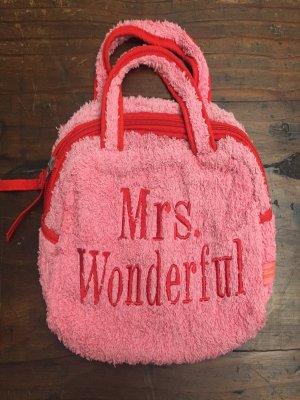 Tasche Frottee Pink mrs wonderful bestickt Supersüss