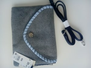 Bolso folclórico gris claro-azul claro