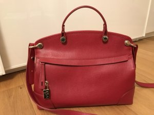 Furla Carry Bag neon red leather