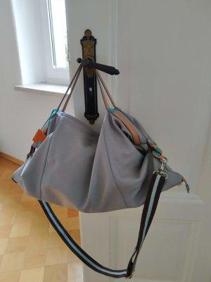Gabs Shopper light grey-turquoise leather