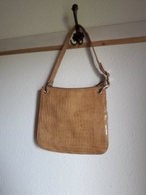 Carry Bag sand brown synthetic material