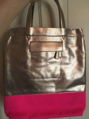 Tasche Gold/ Neon-Pink