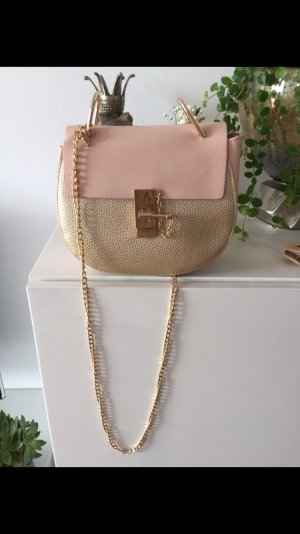 Tasche Gold rosa Neu