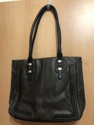 Sac Baril gris anthracite-noir
