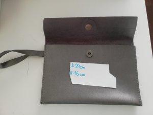 Borsa clutch argento-grigio