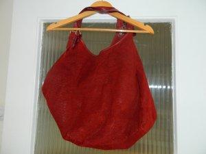 Tasche groß Leder rot Schultertasche