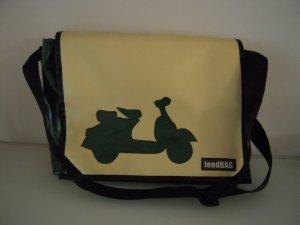 Tasche grün beige FEEDBAG Unikat