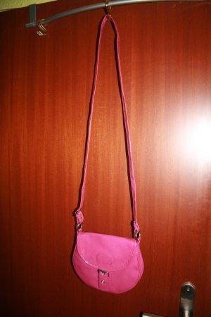 Tasche H&M in Lackoptik brombeerfarben