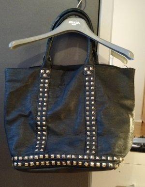 Tasche Hallhuber Shopper schwarz Nieten groß Handtasche blogger fashion musthave