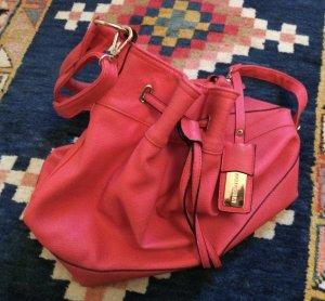 Tasche Handtasche Beutel rot koralle Hallhuber