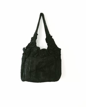 tasche • handtasche • beutel • vintage • schwarz • bohostyle • romanticlook