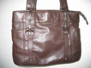 Tasche Handtasche Henkeltasche braun Leder SHE