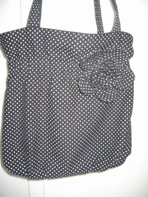 Tasche Handtasche Henkeltasche Stofftasche schwarz weiß ZARA