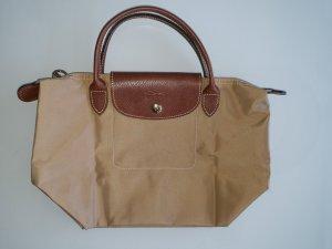 Tasche Handtasche Longchamp Le Pliage Type S Modele Depose beige creme braun