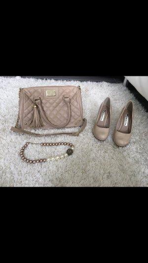Tasche Handtasche nude rose beige