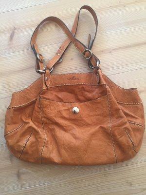 Tasche Handtasche Schultertasche Leder cognac von Hogan