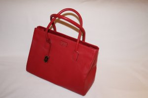 Tasche, Handtasche, Shopper,  Leder, Farbe: Rot, von Paul Costelloe