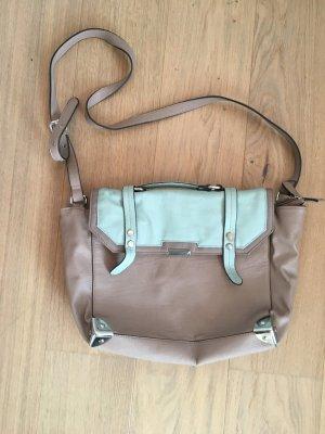Tasche Handtasche Umhängetasche beige türkis ASOS