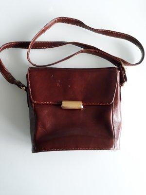 Tasche Handtasche Umhängetasche Jappelle Jane Shilton braun Leder Vintage