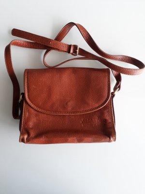 Tasche Handtasche Umhängetasche Jil Sander Leather Classics Leder braun Vintage Style