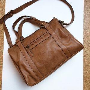 Tasche | Handtasche | Umhängetasche | Kunstleder | braun