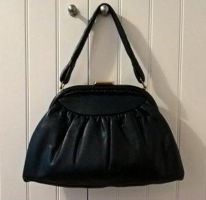 Tasche/Handtasche Vintage Leder schwarz