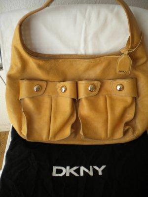 Tasche Handtasche von Donna Karan DKNY Leder beige