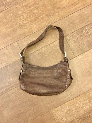Tasche Henkeltasche Umhängetasche braun mit Reißverschluss wie neu