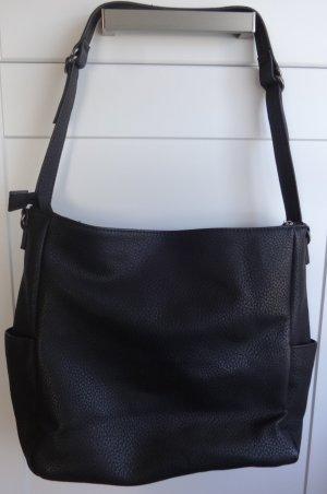 Tasche Hobo schwarz 40x27x12cm mit zwei Trageriemen