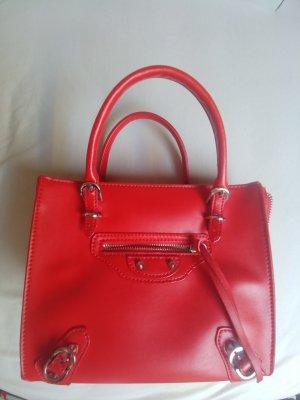 Shoulder Bag red-brick red leather