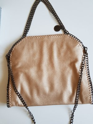 Shopper oatmeal-beige imitation leather