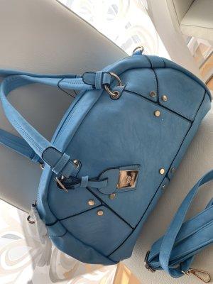 Tasche in blau Shopper Kunstleder