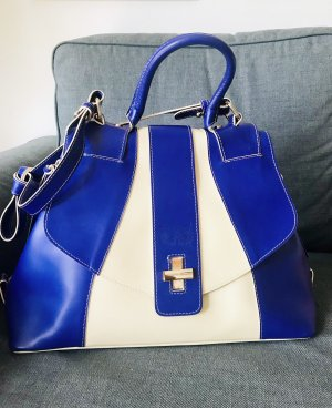 Bolso de compra blanco-violeta azulado