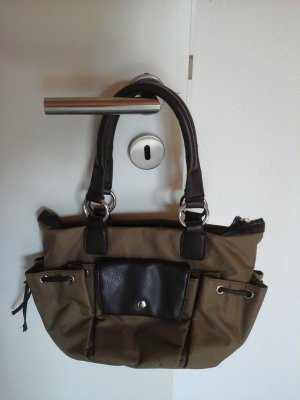 Weekender Bag dark brown-olive green