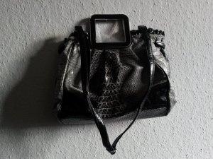 Tasche in schwarz-grau