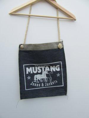 Mustang Burlap Bag blue