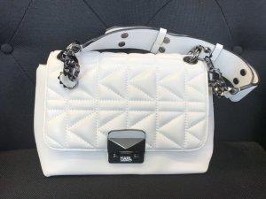 Karl Lagerfeld Shoulder Bag white-black