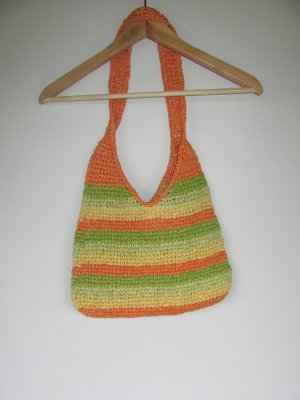 Vintage Burlap Bag multicolored