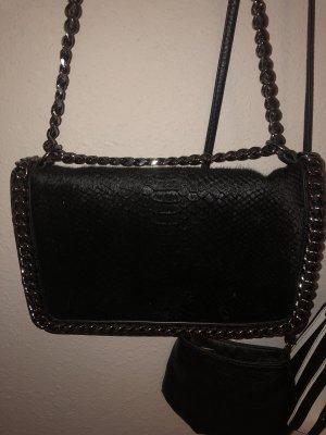 Zara Shoulder Bag black-silver-colored