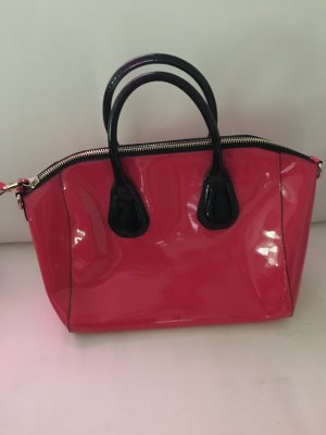 Business Bag pink-black imitation leather