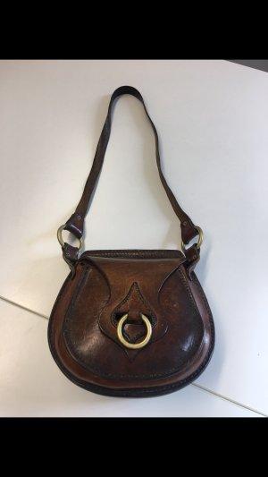 Tasche Leder Messing Antik Handarbeit