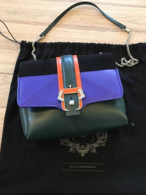 Shoulder Bag dark grey leather