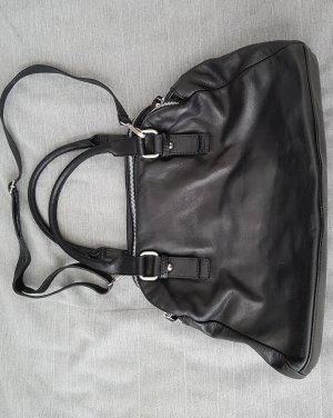 Tasche Leder Shopper schwarz
