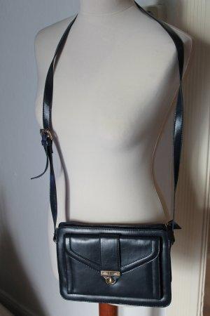 Tasche Leder Urban Outfitters Blau Vintage blogger Retro