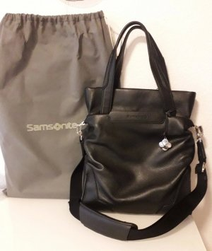 Samsonite Sacoche d'ordinateur noir cuir